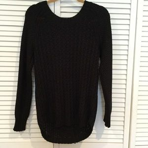 CALVIN KLEIN black chunky knit sweater
